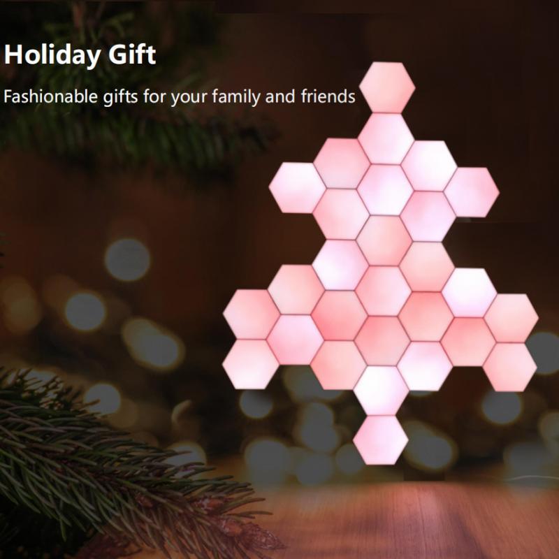 Lifesmart LS160 Creative Geometry Assembly Intelligent Control Panel Light-Christmas tree 28Set