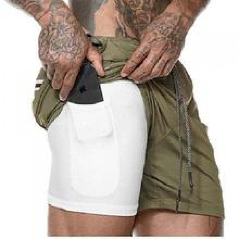 2-in-1 Secure Pocket Fitness Shorts