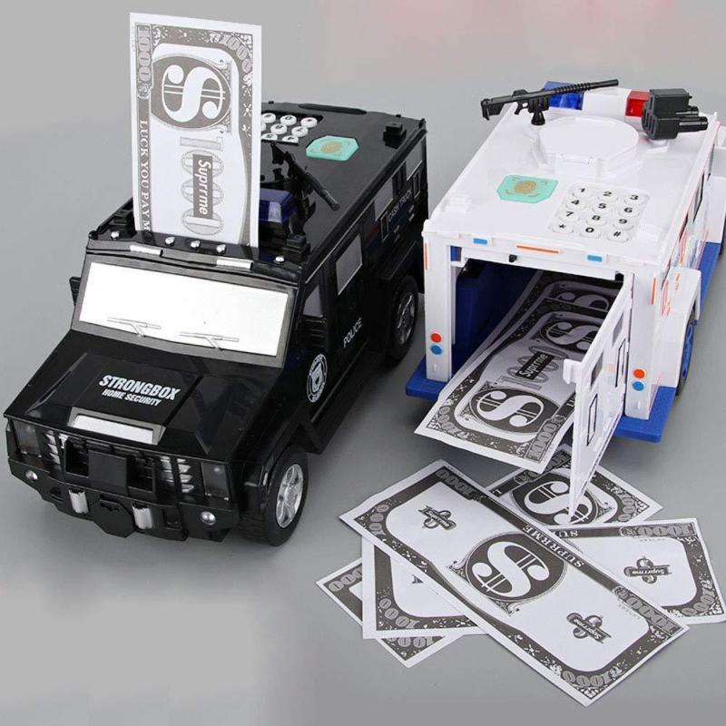 Electronic Money Bank Code Armored Car(Fits All Kinds Of Paper Money And Coins)