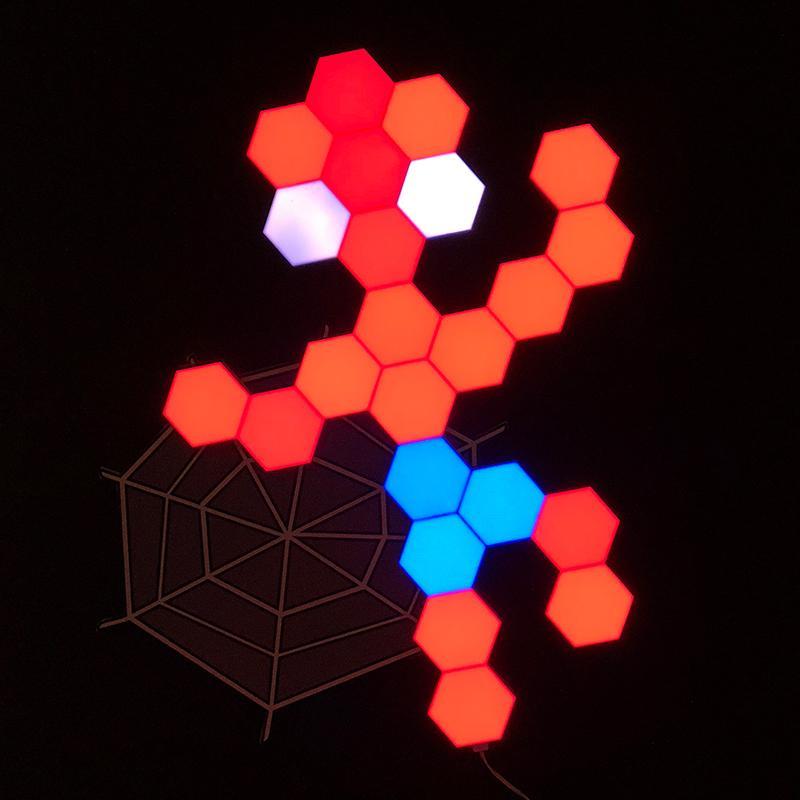 Lifesmart LS160 Creative Geometry Assembly Intelligent Control Panel Light-Spiderman Style 23Set