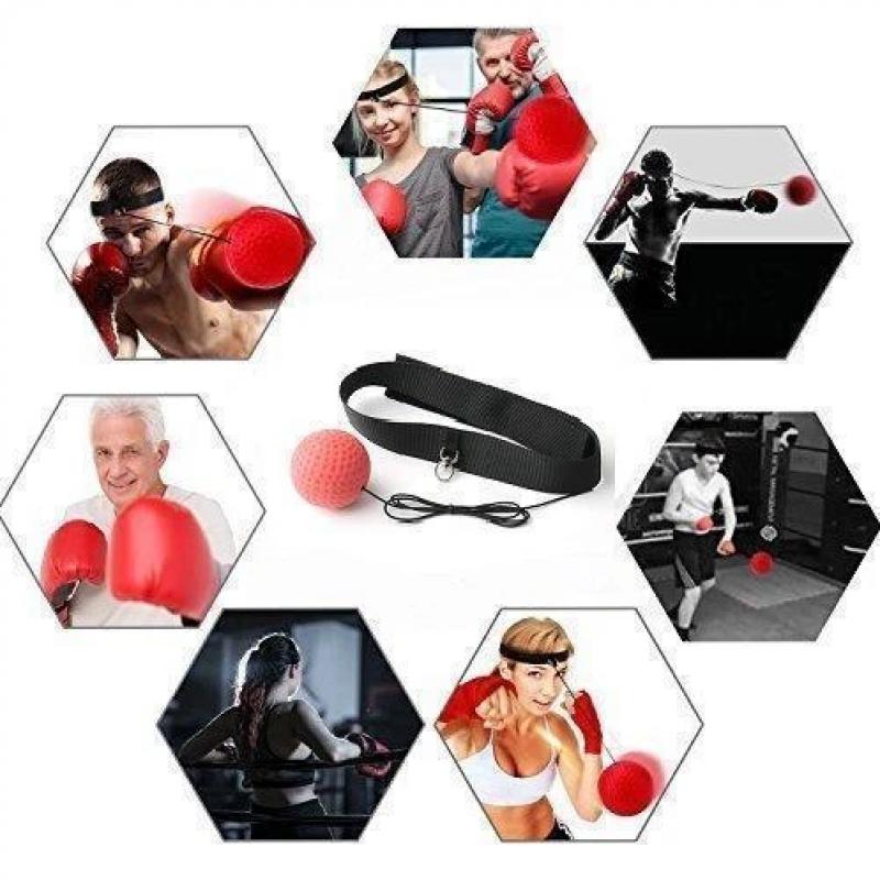 Head-mounted Boxing Reflex Ball