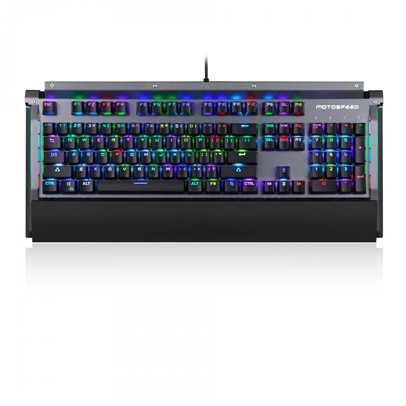 Motospeed CK98 Kailh BOX Switch 104 Keys NKRO USB Wired RGB Backlit Mechanical Gaming Keyboard
