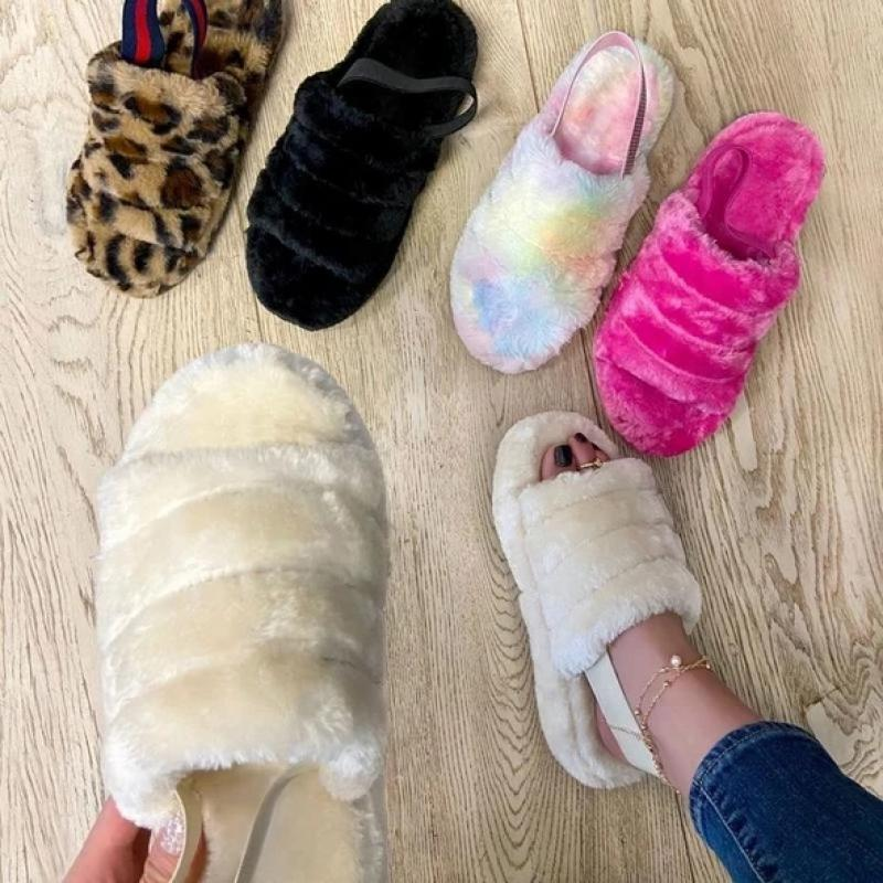 Waterproof Fluffy Slippers