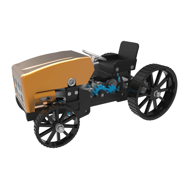 Teching DM12B Explorer 1 Creative All-metal Retro Model Car Rechargeable Simulation Science Toy High Challenge Assembled Electric Model Kit