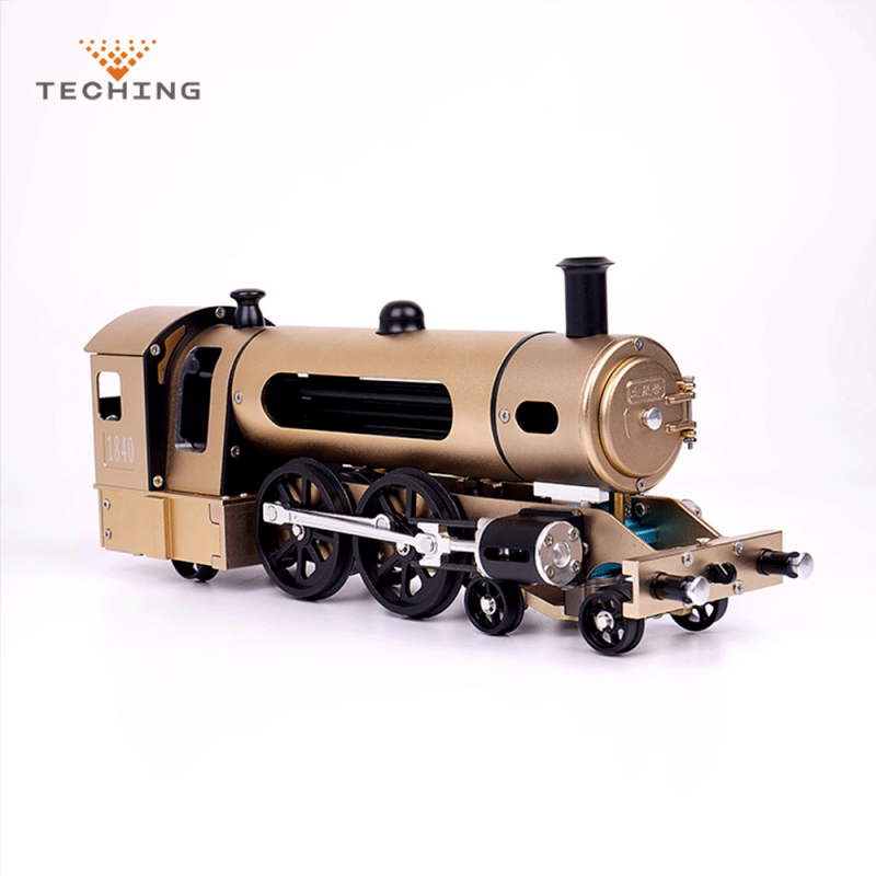 Teching DM21 Engine Steam Train Model With Pathway Full Aluminum Alloy Model Gift Collection STEM Toys