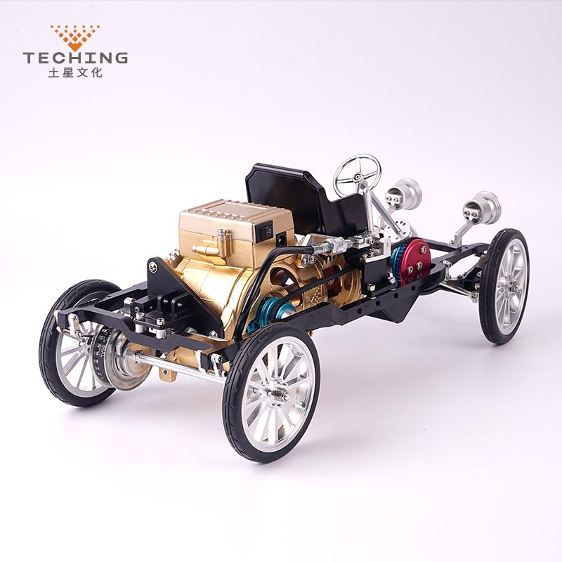 Teching DM26 Car Model Single Cylinder Engine Aluminum Alloy Model Gift Collection Toys