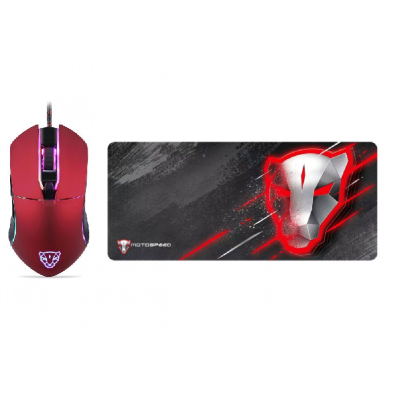 MotoSpeed V30 Mice and mouse mat Pack
