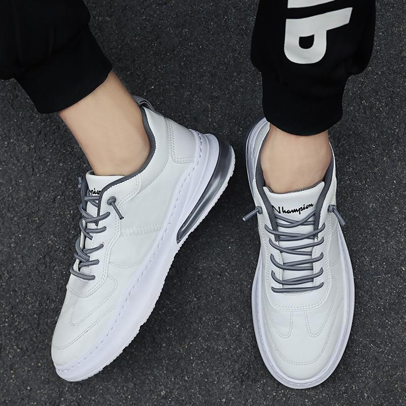 Fashion Men's Sneakers Leather Air Cushion Shoes