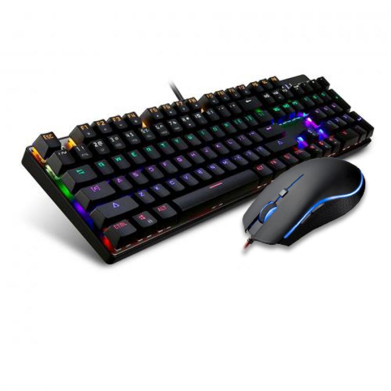 Motospeed CK666 NKRO Optical Mechanical Keyboard Mouse Combo